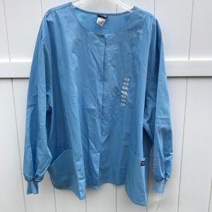 Scrubs Cherokee Workwear Jacket 4XL Light Blue